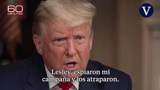 Trump publica una entrevista de la CBS que acabó en riña antes de su emisión