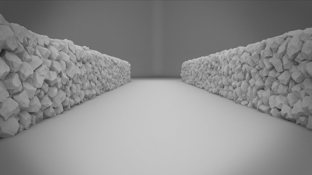 3dsmax Tutorial Wall Of Rocks Youtube