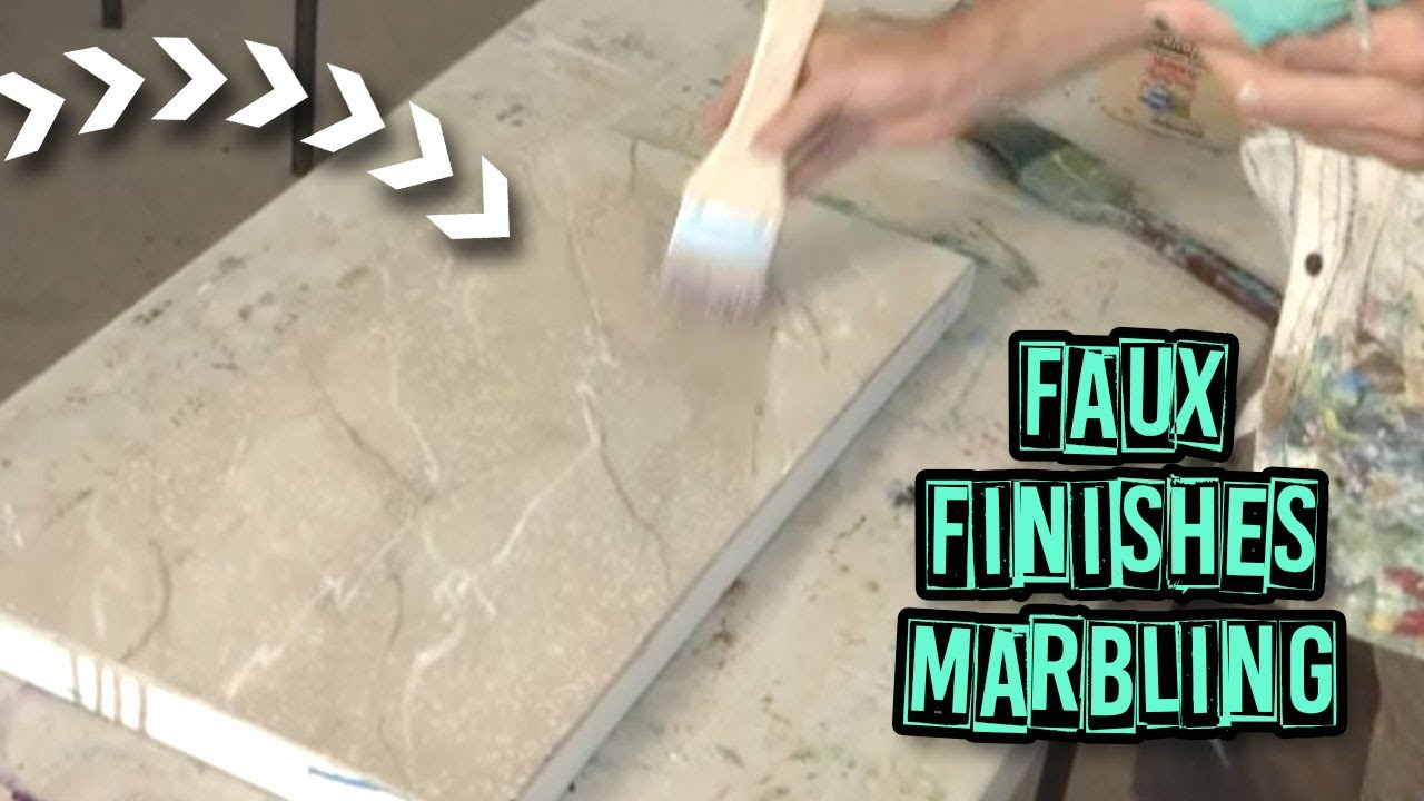 Acrylic Painting Techniques - Faux Finishes - Marbling - YouTube