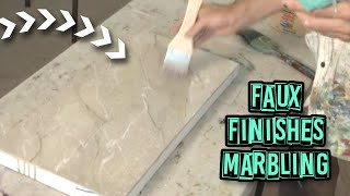 Acrylic Painting Techniques - Faux Finishes - Marbling