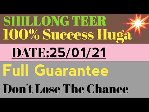 Shillong teer/ Shillong teer house Ending Direct Date: 25/01/21