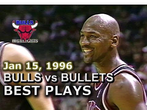 Jan 15 1996 Bulls vs Bullets highlights