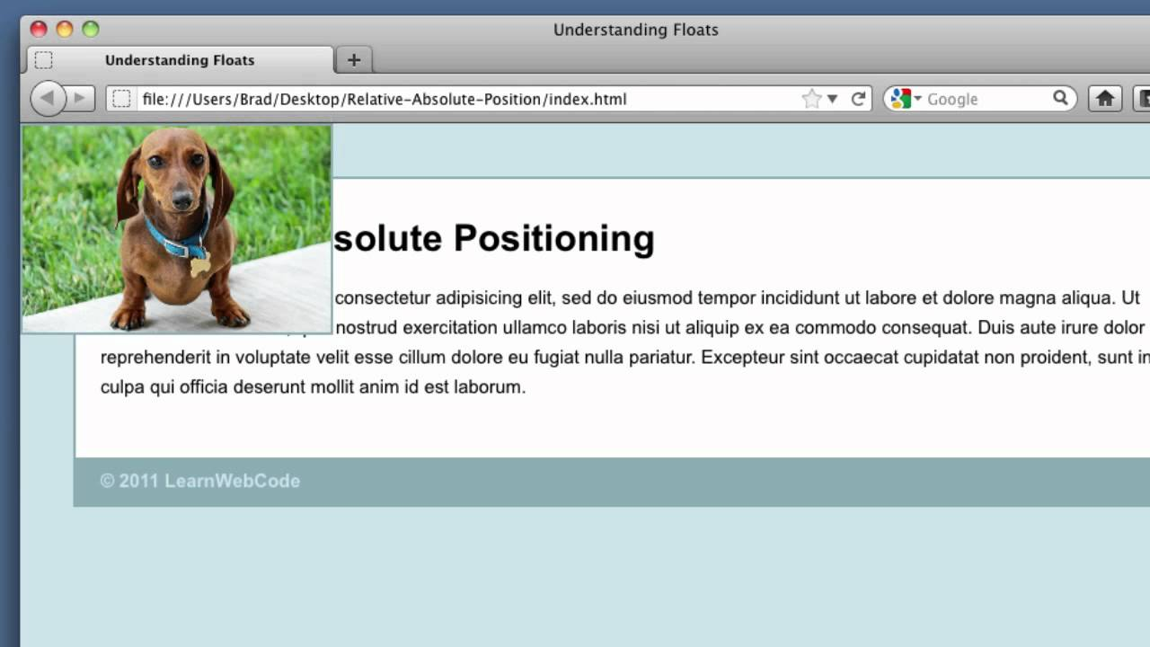 how to get position fixed and absolute css