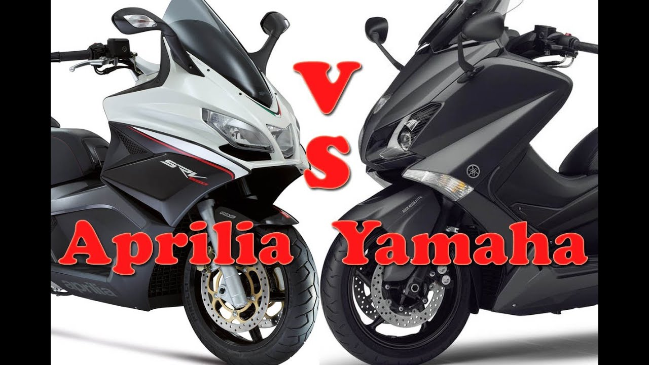Aprilia SRV 850 vs Yamaha T-Max 530 Vergleichstest - YouTube