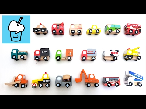 Wooden Cars for kids children | learning street vehicles name and sound for kids