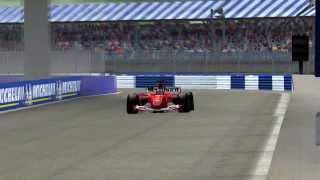 [F1C] Scuderia Ferrari F2004 @Silverstone with Rubens Barrichello - Pit Stop (Mod RH2004) [HD]