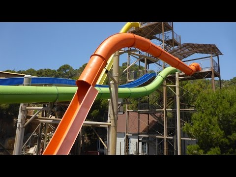Western Park Magaluf - The Beast (Orange Speed Slide) Onride POV