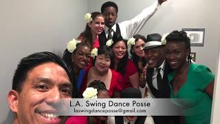 L.A. Swing Dance Posse at The Jump Session Show - Posse Routine