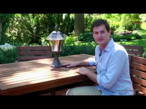 Gama Sonic 6 Solar Lamp Post with Planter & EZ Anchor on QVC