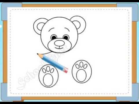 BÉ HỌA SĨ - Thực hành tập vẽ 201: Vẽ gấu bông