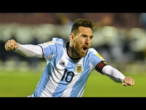 Ecuador vs Argentina (0-3) World cup qualifier all goals- Messi hat trick