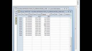 getting correlation coefficient in eviews