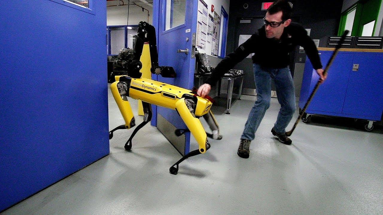 צפו רובוט מול אדם: האם יצליח לפתוח את הדלת?