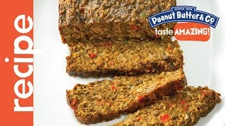 Vegetarian Peanut Butter Mushroom Meatloaf Recipe