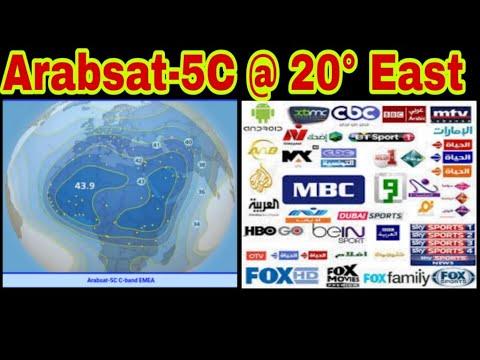 Arabsat-5C @ 20° East#Arabsat#20east#