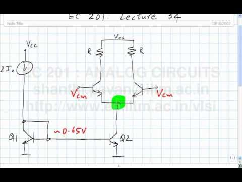 lecture 34 - the differential pair continued