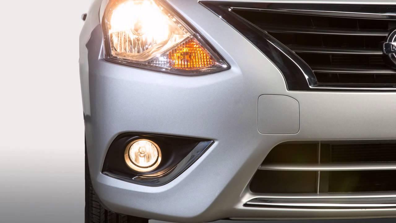 2016 NISSAN Versa Sedan Headlights And Exterior Lights YouTube