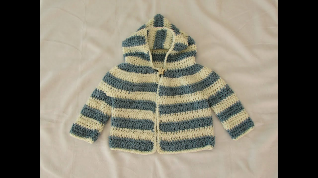 How to crochet an easy childrens sweater hoodie jacket youtube bankloansurffo Choice Image