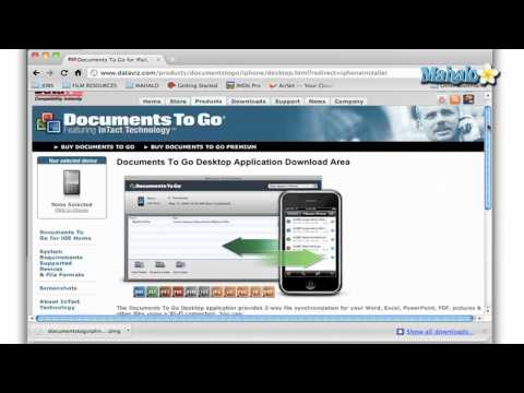 How to Sync with your Desktop in Documents to Go for the iPad