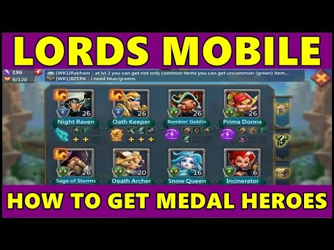 Lords Mobile: How To Get More Heroes (Games For Kids)