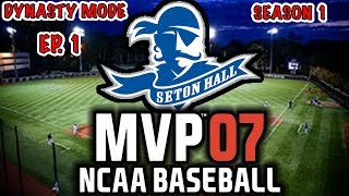 *NEW SERIES* MEET THE SQUAD!!    ROAD TO THE COLLEGE WORLD SERIES   MVP NCAA 07 REBUILD EP1