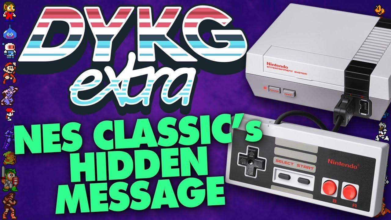 NES Classic Edition's Secret Message [Hidden Messages] - Did You Know  Gaming? extra Feat  Dazz