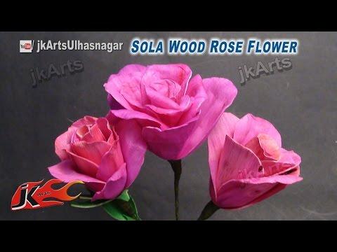 DIY Rose Flower making | How to make flower | JK Arts 617