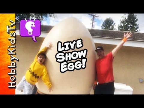 World's Biggest LiVE SHOW Egg! Surprise Toys + Monster Putty with HobbyKidsTV