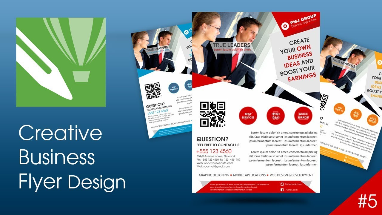 Flyer Gestalten App Coreldraw Tutorial Create A Business Flyer Design