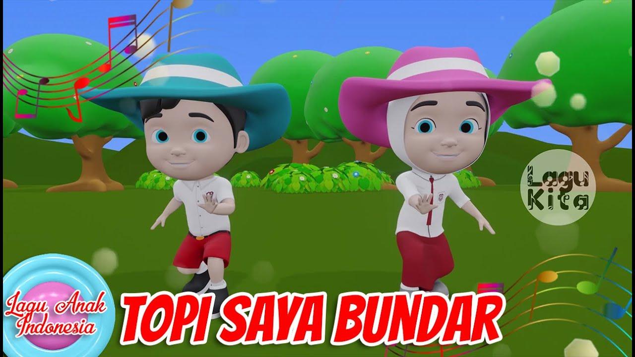 Topi Saya Bundar | 3D | Lagu Anak Indonesia