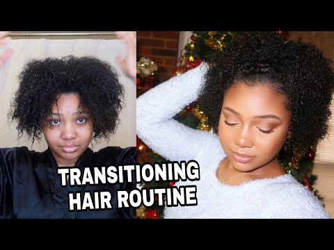My Wash Day Routine on TRANISITIOING HAIR + Easy Hairstyle!