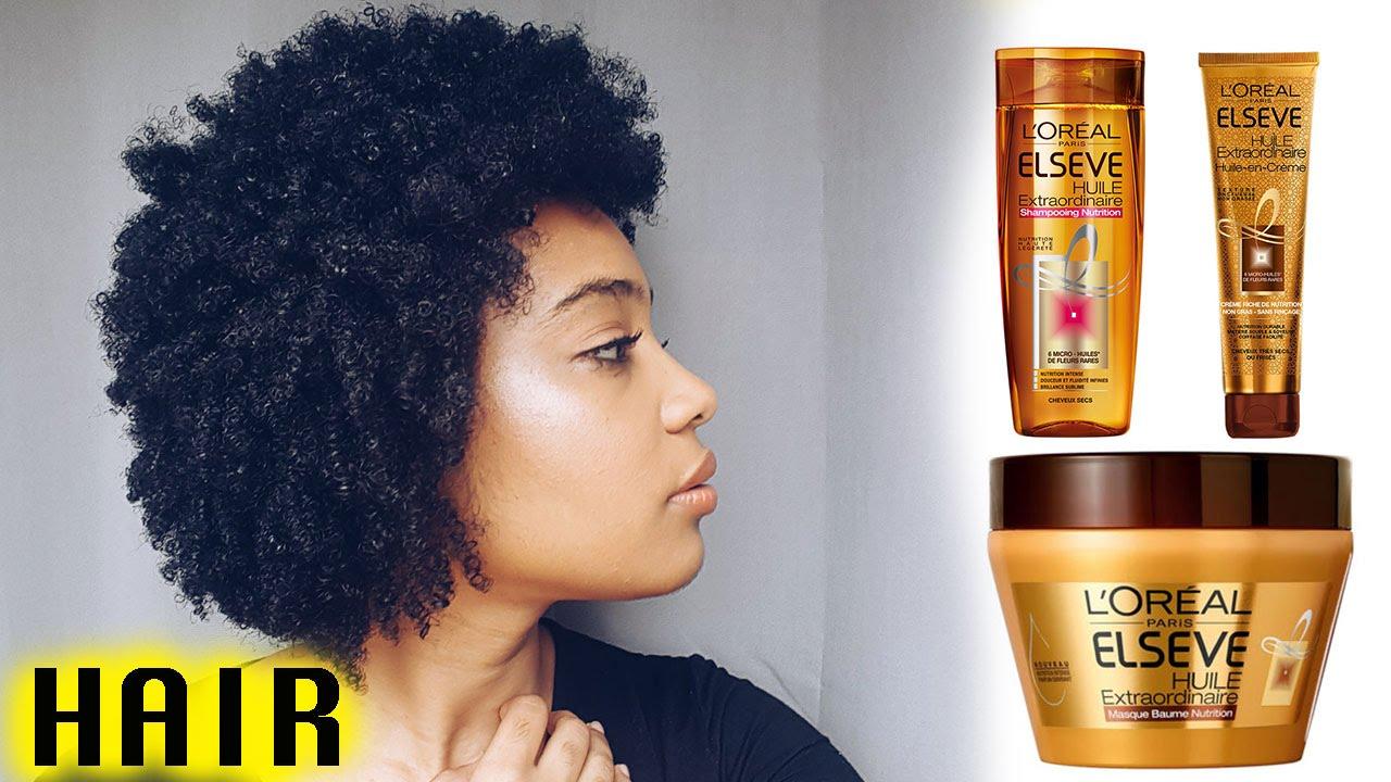 l 39 oreal els ve huile extraordinaire sur cheveux cr pus youtube