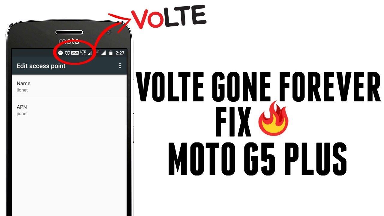 No IMEI & Broken Volte Fix for Moto G5 Plus