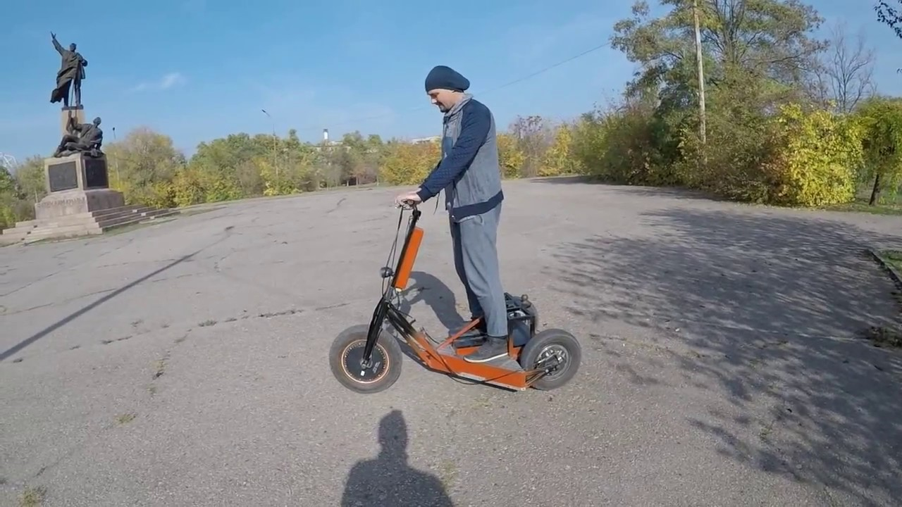 Custom electric scooter! электротранспорт электросамокат  All wheels driving  (in Wheel Hub Motors)
