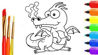 Coloring Books for Kids | Baby Dragon| Creative Coloring Pages for Children and Drawing
