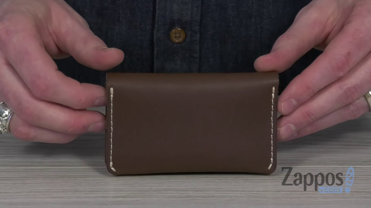 Red Wing Card Holder Wallet Black Oro and Tan