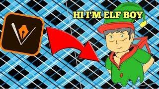 Time Lapse I draw Elf Boy using Adobe Draw