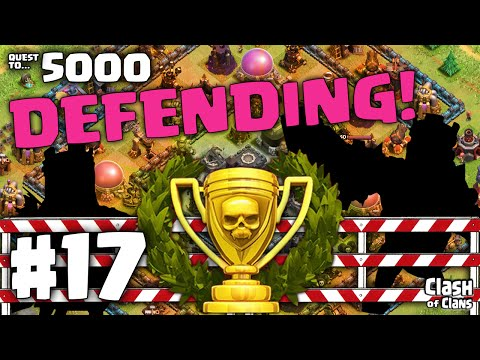 Clash of Clans 'Epic Defense' - Defensive Layouts - Quest to 5000 #17