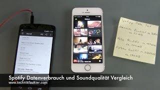 Spotify Datenverbrauch und Soundqualität Vergleich
