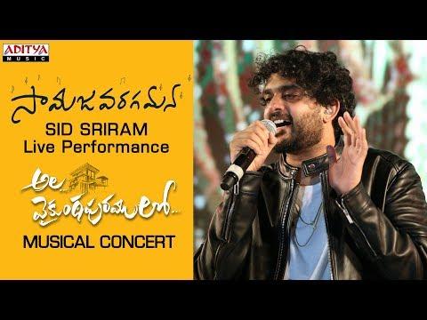 Samajavaragamana Song Live Performance By Sid Sriram @ #alavaikunthapurramuloo Musical Concert