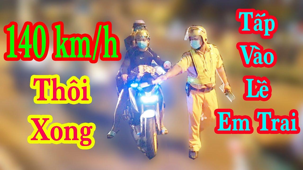 CSGT Lái Bồ Câu 250cc Đuổi Bắt Trẻ Trâu Chạy Suzuki Satria 140 km/h Cực Chất Trên Phạm Văn Đồng