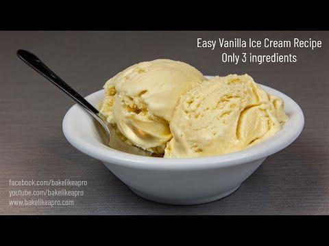 Easy Vanilla Ice Cream Recipe 4K