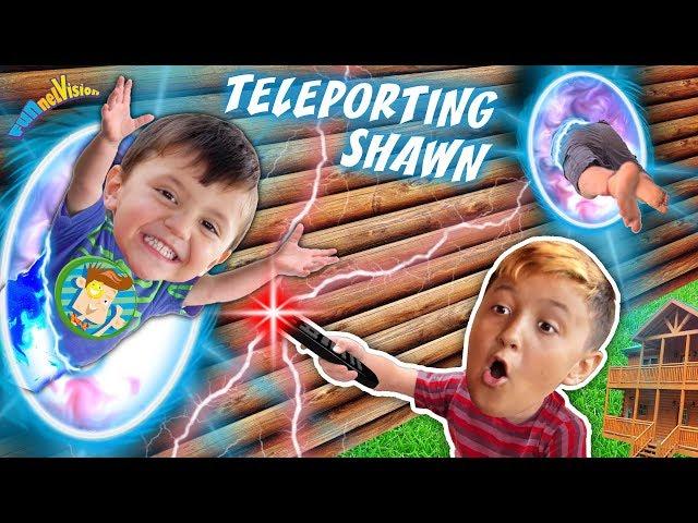TELEPORTING SHAWN! Magic Mountain Cabin House (FUNnel Fam Magic Vision)