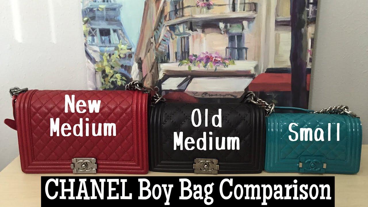 3 CHANEL Boy Bag Comparison    Small v. Old Med v. New Med - YouTube 9fb2668e425ca
