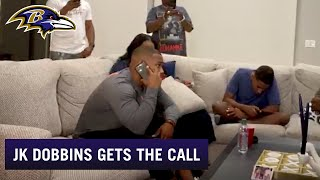 J.K. Dobbins Gets The Call From GM Eric DeCosta in 2020 NFL Draft | Baltimore Ravens