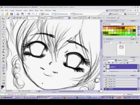 dessin manga ordinateur