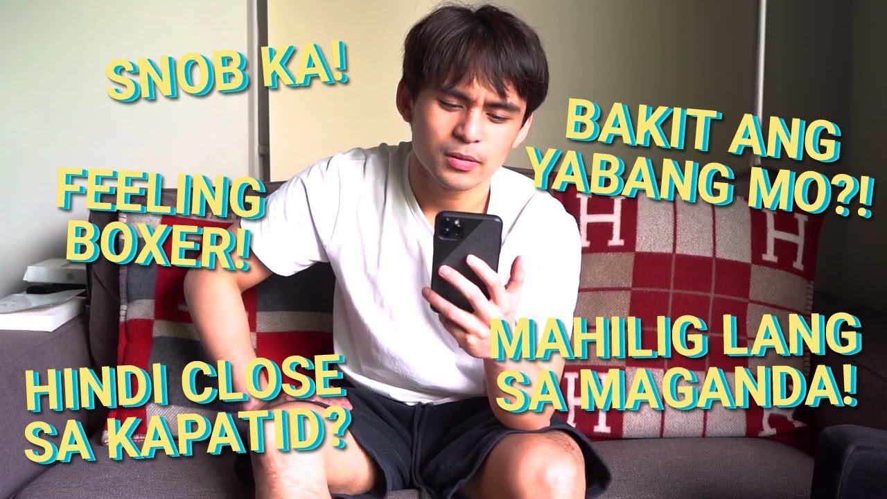 REACTING TO YOUR ASSUMPTIONS ABOUT ME AND THE PACQUIAO FAMILY | Jimuel Pacquiao