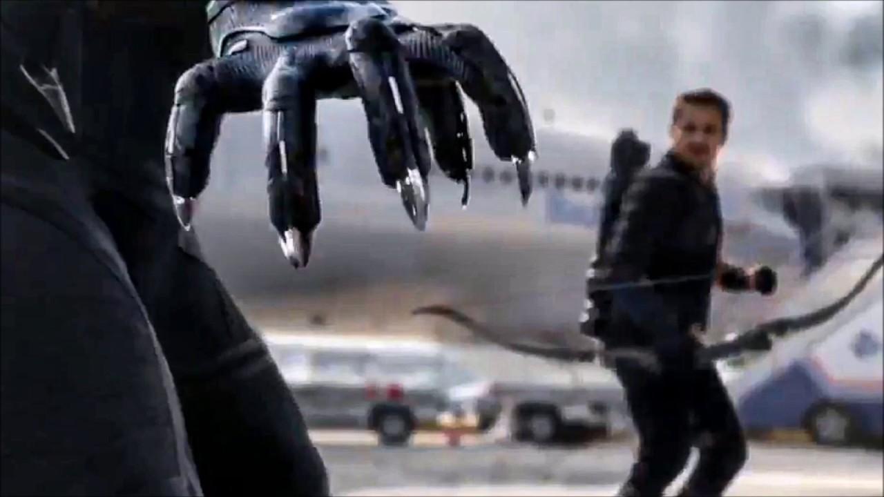 Captain America: Civil War - TV Spot #52 - Black Panther VS Hawkeye (2016)  NEW Footage - YouTube