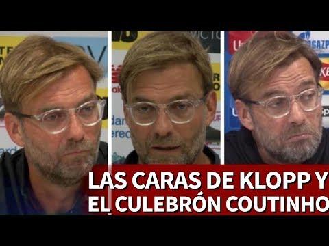 Klopp y sus caras en 8 meses de respuestas sobre Coutinho   Diario AS