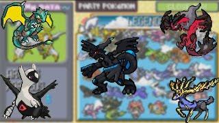 Todos Lendários - Pokémon Mega Ruby (GBA)